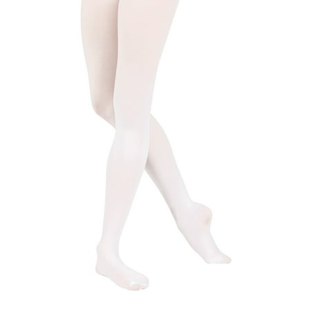 Stretch Footed Tights - Adult Footed Tights with Smooth Self-Knit Waistband