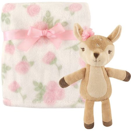 Hudson Baby Boy and Girl Plush Blanket and Toy - Fawn