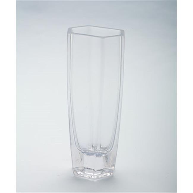 Diamond Star 64118 8 x 2.5 x 3.5 in. Hexagon Vase, Clear