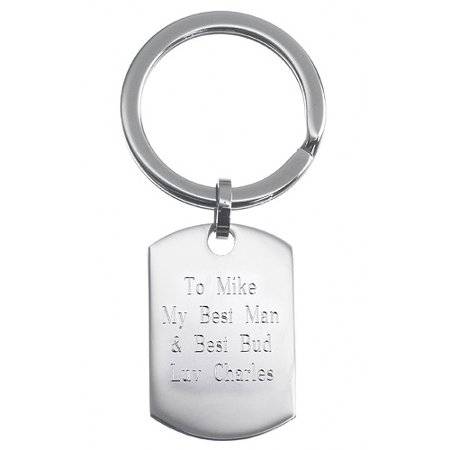 Personalized Stainless Steel Engraved Tag - Cheap Personalized Keychains