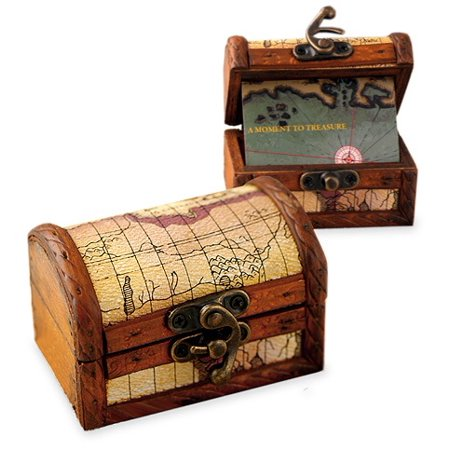 Personalized Wood Treasure Map Chest Box (Personalized Boxes)