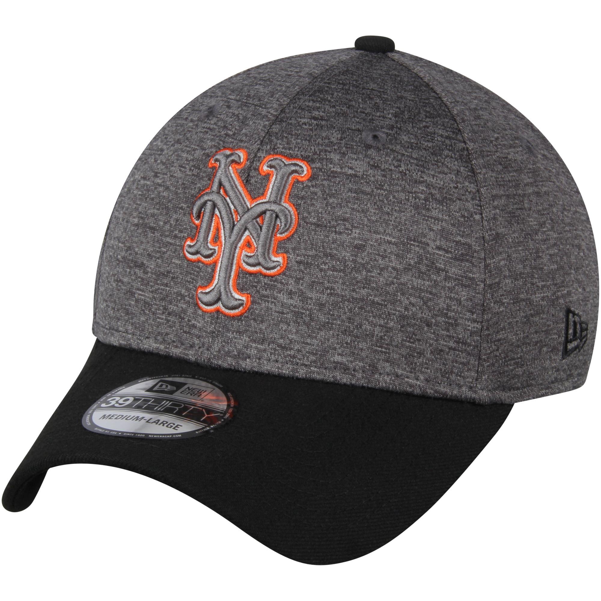 New York Mets New Era 39THIRTY Shadow Tech Color Pop Flex Hat - Heathered Gray/Black
