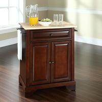 Crosley Furniture LaFayette Natural Wood Top Portable Kitchen Island