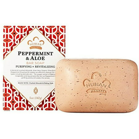 3 Pack - Nubian Heritage Bar Soap, Peppermint & Aloe 5