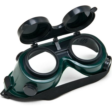 Biltek NEW Welders Safety Goggles Welding Cutting Glasses Flip Up Dark Green Lenses Oxy