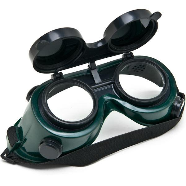 Biltek NEW Welders Safety Goggles Welding Cutting Glasses Flip Up Dark Green Lenses Oxy