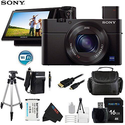 Sony DSC-RX100 Mark III Cyber-shot Digital Still Camera + Pixi-Basic Accessory Bundle
