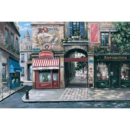 Vogue Cafe Stretched Canvas - Mark St John (20 x 28)