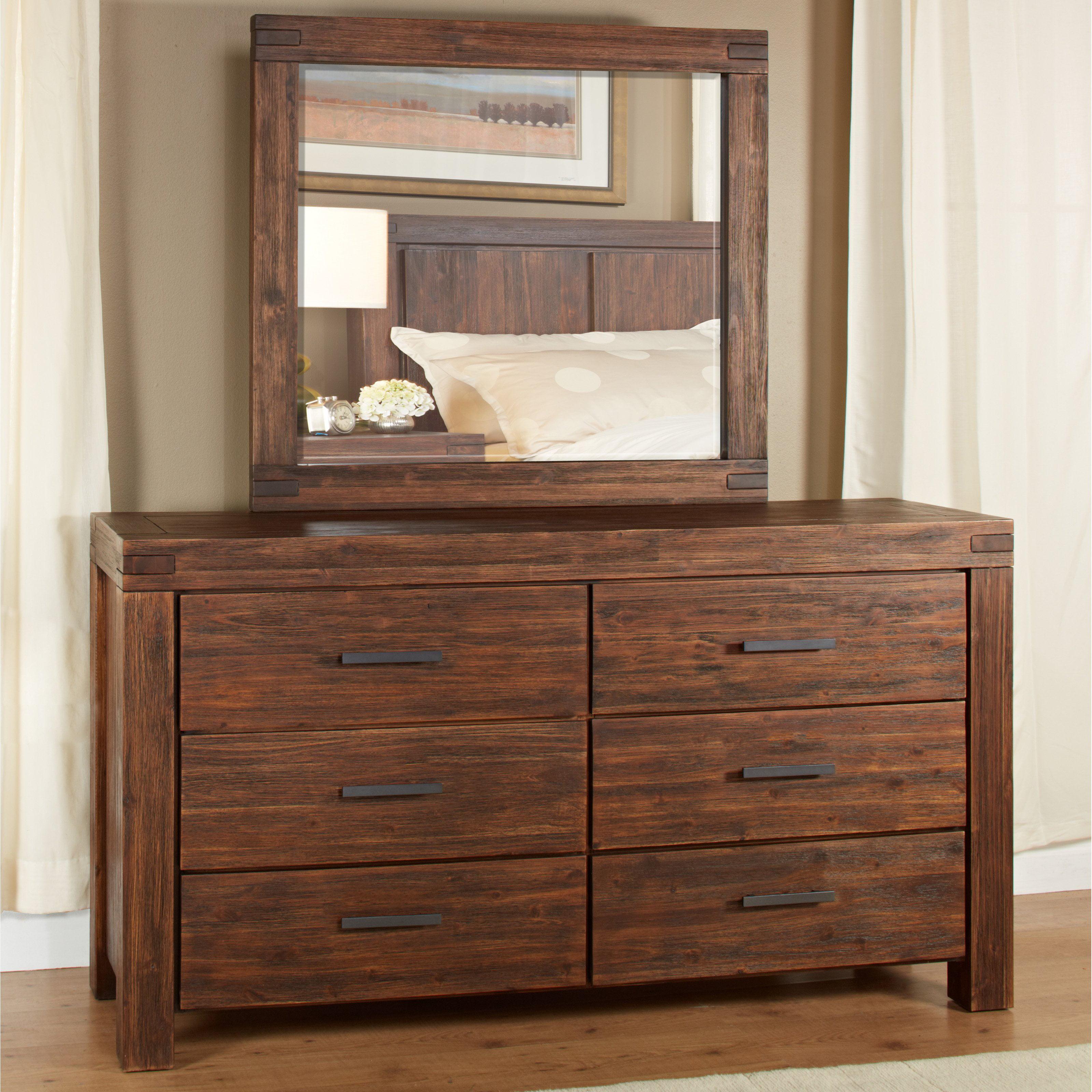 Modus Meadow 6 Drawer Dresser Brick Brown by Modus Furniture International