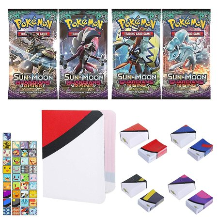 Totem World 1 Sun and Moon Guardians Rising Booster Pack with a Inspired Mini Binder Collectors Album, Deck Box and 100 Card Sleeves for Pokemon Cards - Rare Holo Common or Uncommon