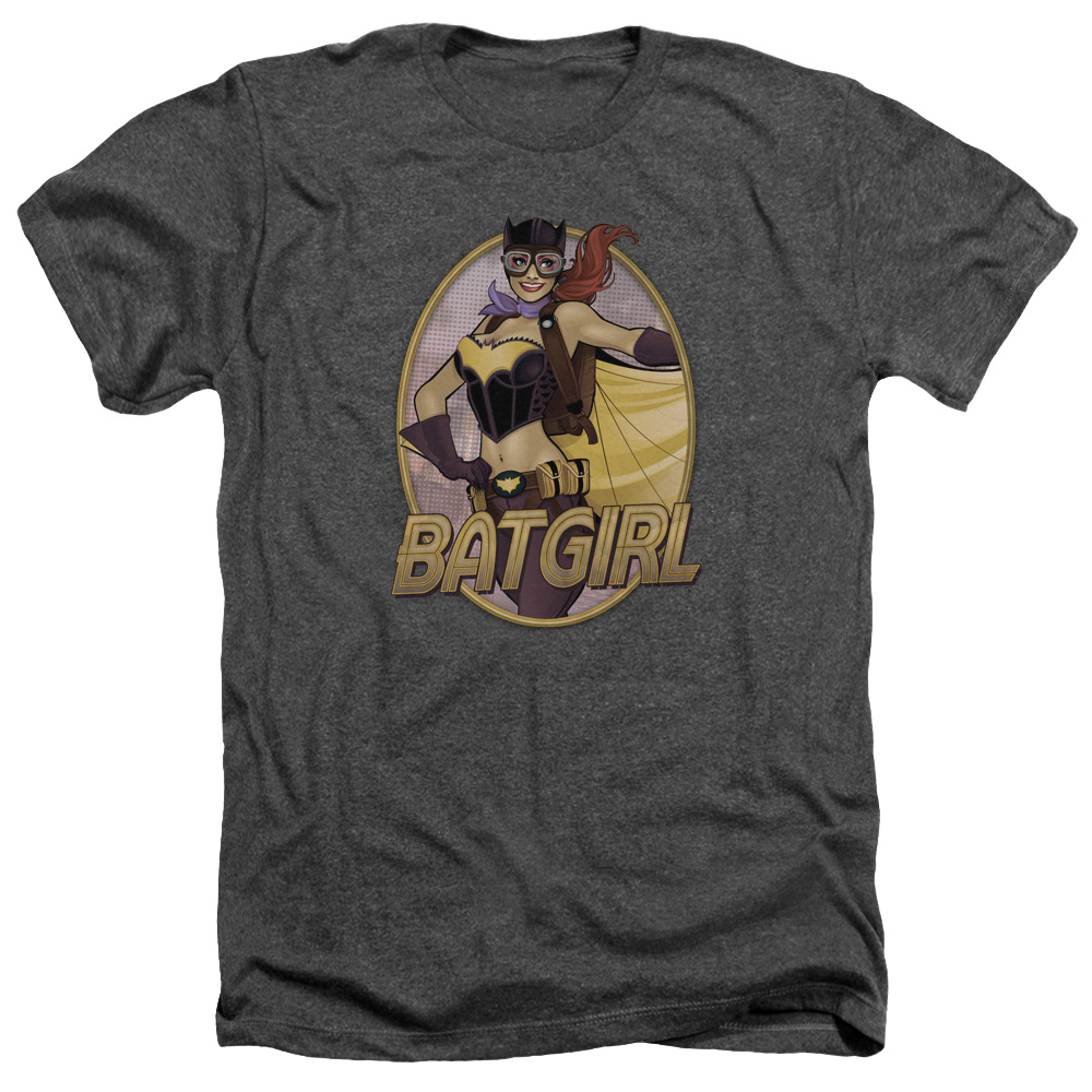 Jla Batgirl Bombshell Mens Heather Shirt