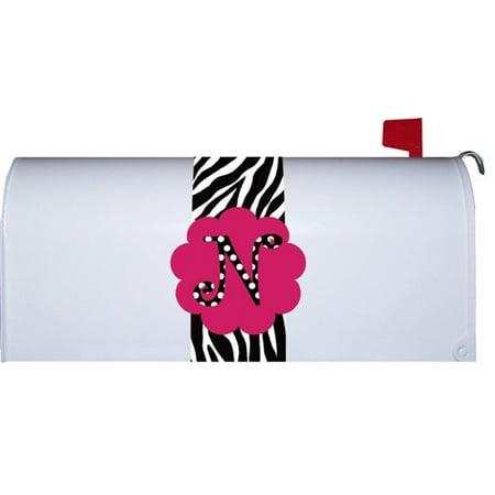 Hot Pink Polka Dot Monogram N Zebra Stripe Mini Mailbox Magnetic Makeover