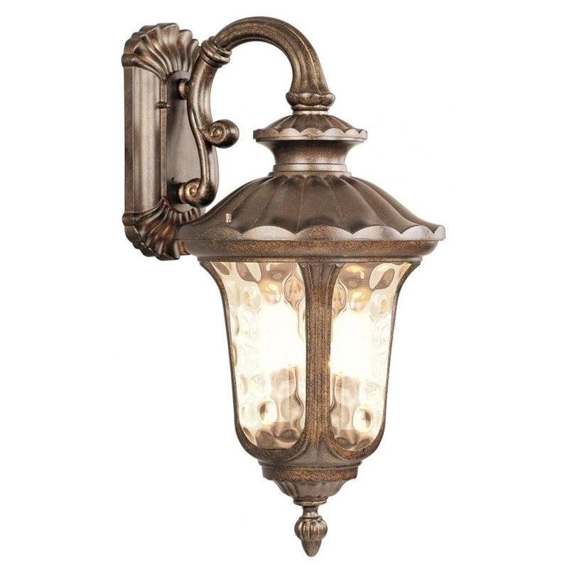Livex Lighting Oxford Moroccan Gold Outdoor Wall Lantern w/ 3 Light 60W