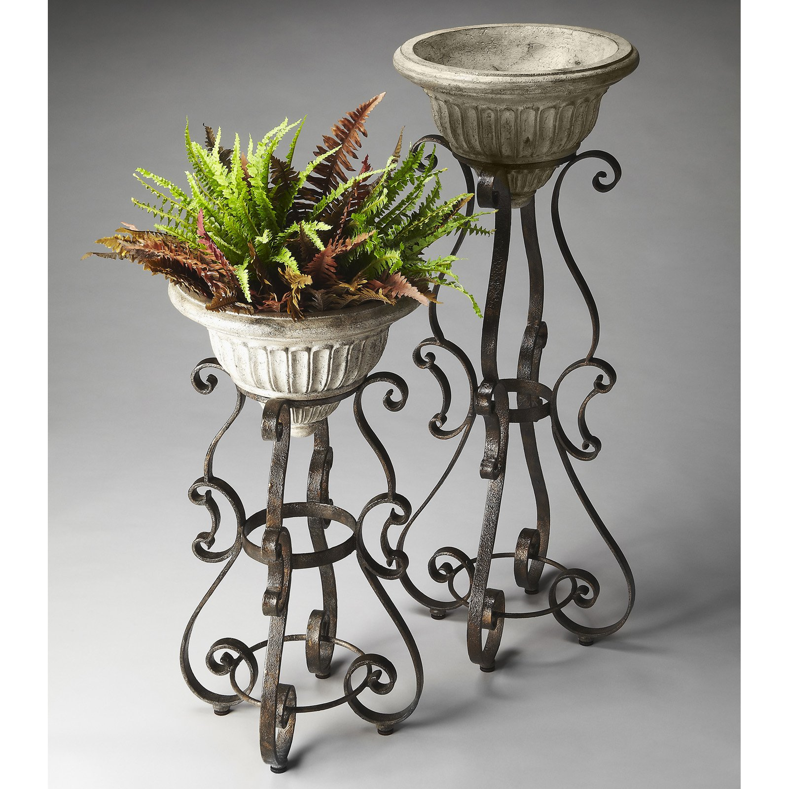 Butler Glory Metalworks Pedestal Plant Stand - Rustic Bronze ...