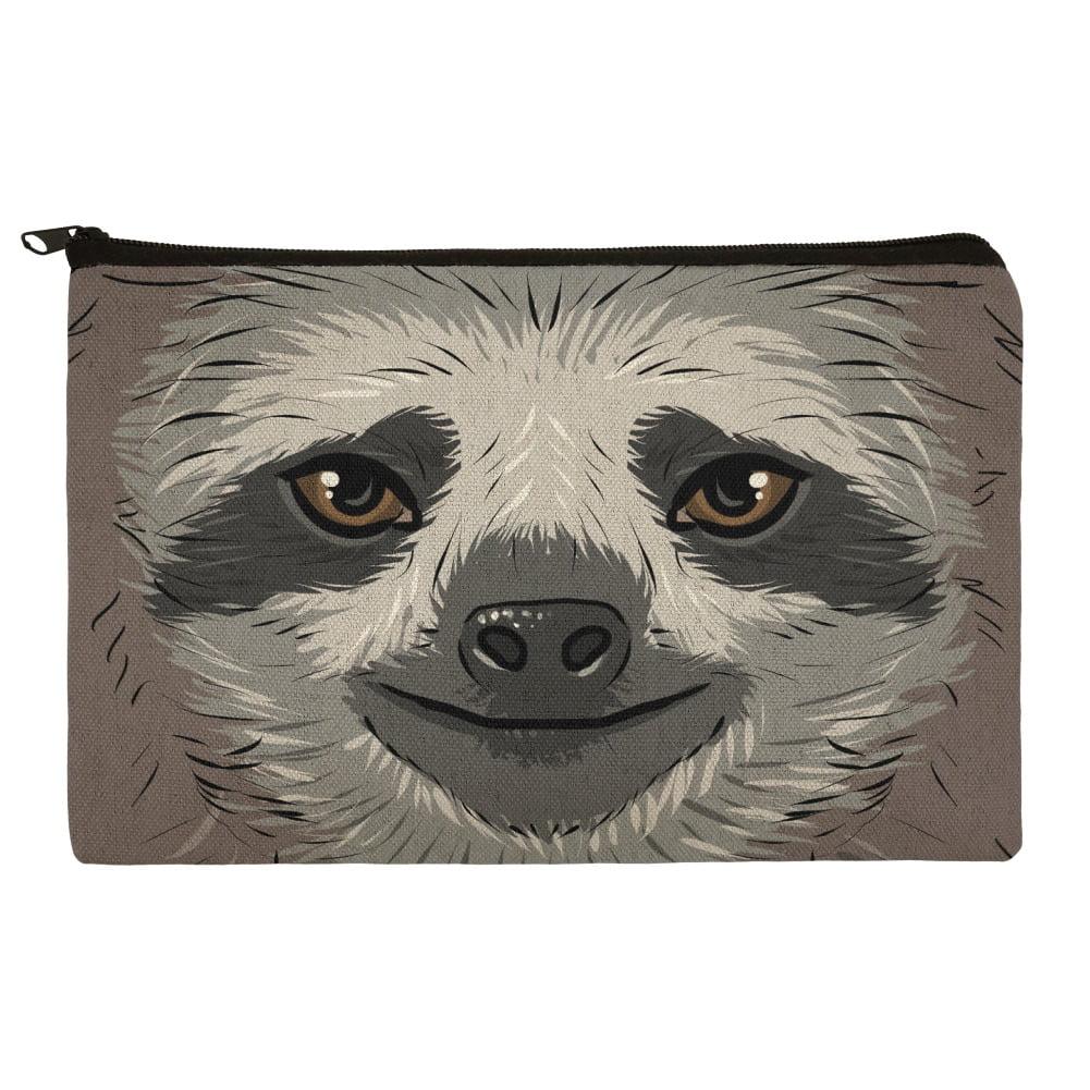 Cute Sloth Face Pencil Pen Organizer Zipper Pouch Case