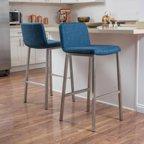Denise Austin Home Shanara Fabric Barstool Set Of 2