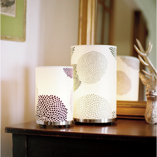 Lights Up! Meridian 11'' H Table Lamp with Drum Shade