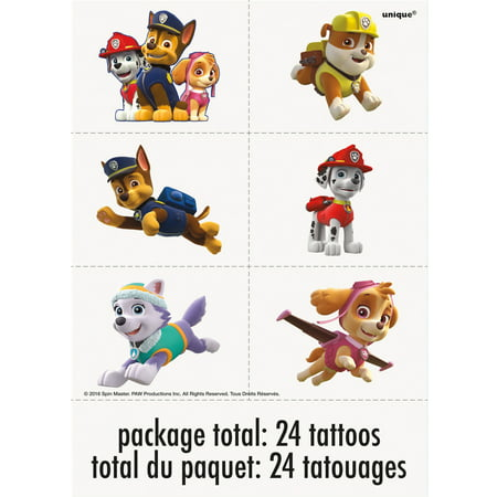 PAW Patrol Temporary Tattoos, 24ct](Cat Paws Tattoo)