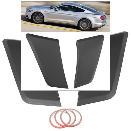 Quarter Panel Vent Scoops Stick On GT350 Style For Ford Mustang Coupe 2015-2017