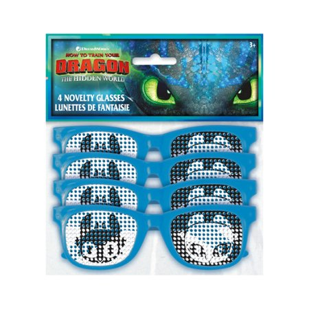 How to Train Your Dragon 3 'Hidden World' Glasses / Favors (4ct) - Favor Glasses