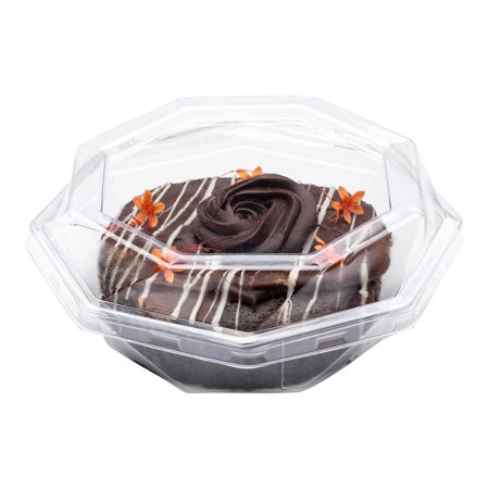 Mini Cake Boxes (Thermo Tek Octagon Clear Plastic Cake Box - with Lid - 5 1/4