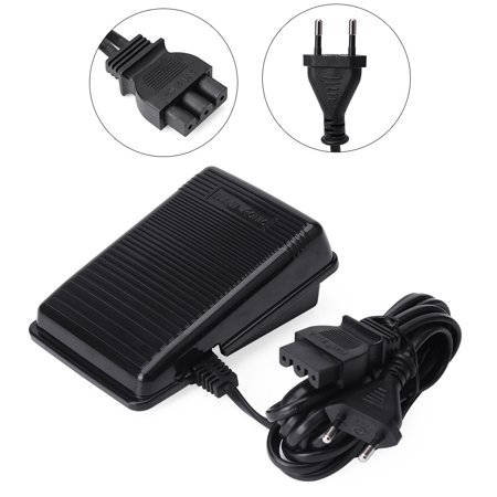 Ejoyous 1pc Foot Controller Pedal Sewing Machine Parts for Singer EU Plug, Sewing Machine Foot Pedal, Foot Pedal for