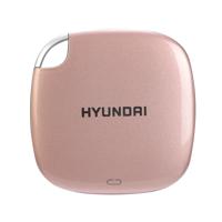 Hyundai 512GB Ultra Portable Data Storage Fast External SSD, PC/MAC/Mobile- USB-C/USB-A, Dual Cable Included, Piano Black - HTESD500PB