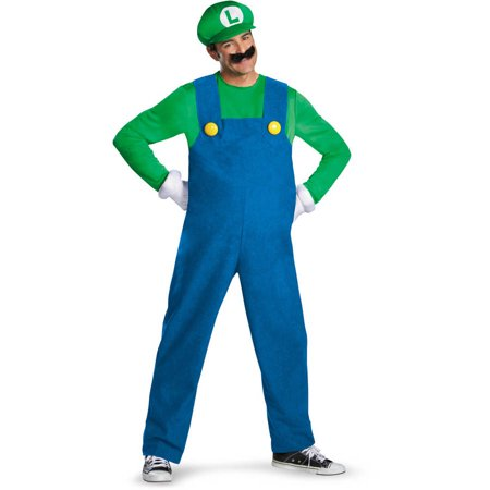 Super Mario Halloween Costumes Adults (Super Mario Brothers Mario Men's Adult Halloween Costume,)