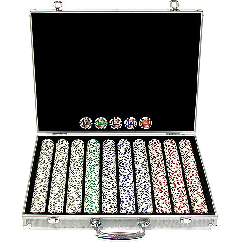 Trademark Poker 1000 11.5 Gram 4 Aces Poker Chip Set with Aluminum Case