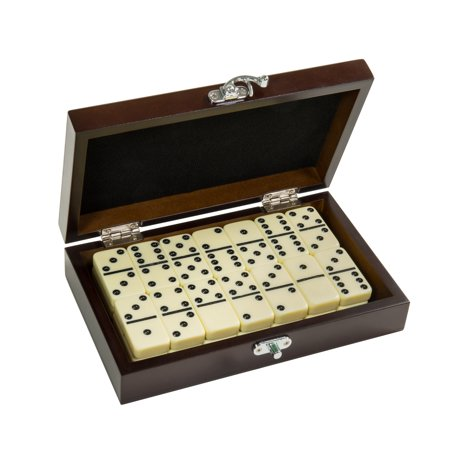 - Craftsman Natural Wood Veneer Deluxe Dominoes Set