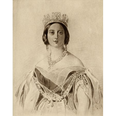 Queen Victoria1819-1901 Princess Alexandrina Victoria Of Saxe-Coburg From A Portrait By Dalton After F Winterhalter From The Book The Girlhood Of Queen Victoria 1832-1840 Vol Ii  Published 1912 Rolled