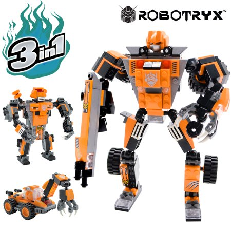 Robot STEM Toy | 3 In 1 Fun Creative Set | Construction Building Toys For Boys Ages 6-14 Years Old | Best Toy Gift For Kids | Free Poster Kit