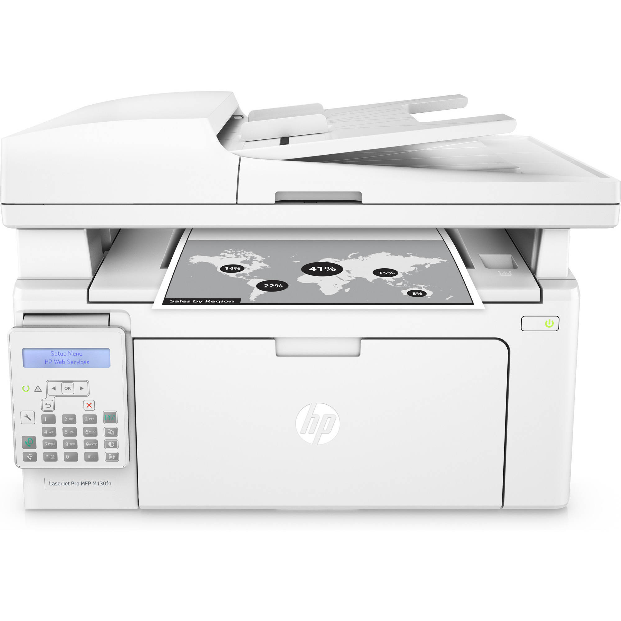 Recertified HP G3Q59AR#BGJ LaserJet Pro MFP M130fn Multifunction Printer/Copier/Scanner/Fax Machine