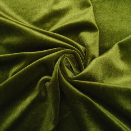 "Velvet Curtain Panel Drape 5W x 7H Black Home Theater Energy Efficient Curtain"", (Color: Olive)"