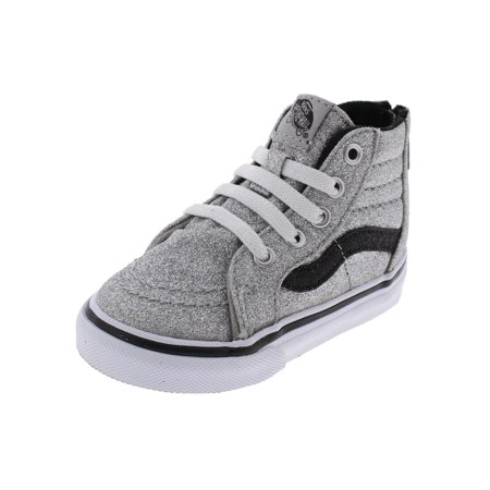 9474e4277e Vans - Vans Girls SK8-HI High Top Sparkly Casual Shoes - Walmart.com