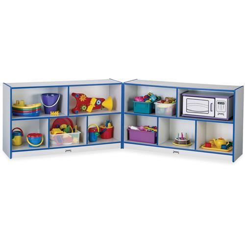 "0326JCWW003 Rainbow Accents Fold-n-Lock Storage Shelf - 24.5"" Height x 96"" Width x 15"" Depth - Hard Rubber - Blue"