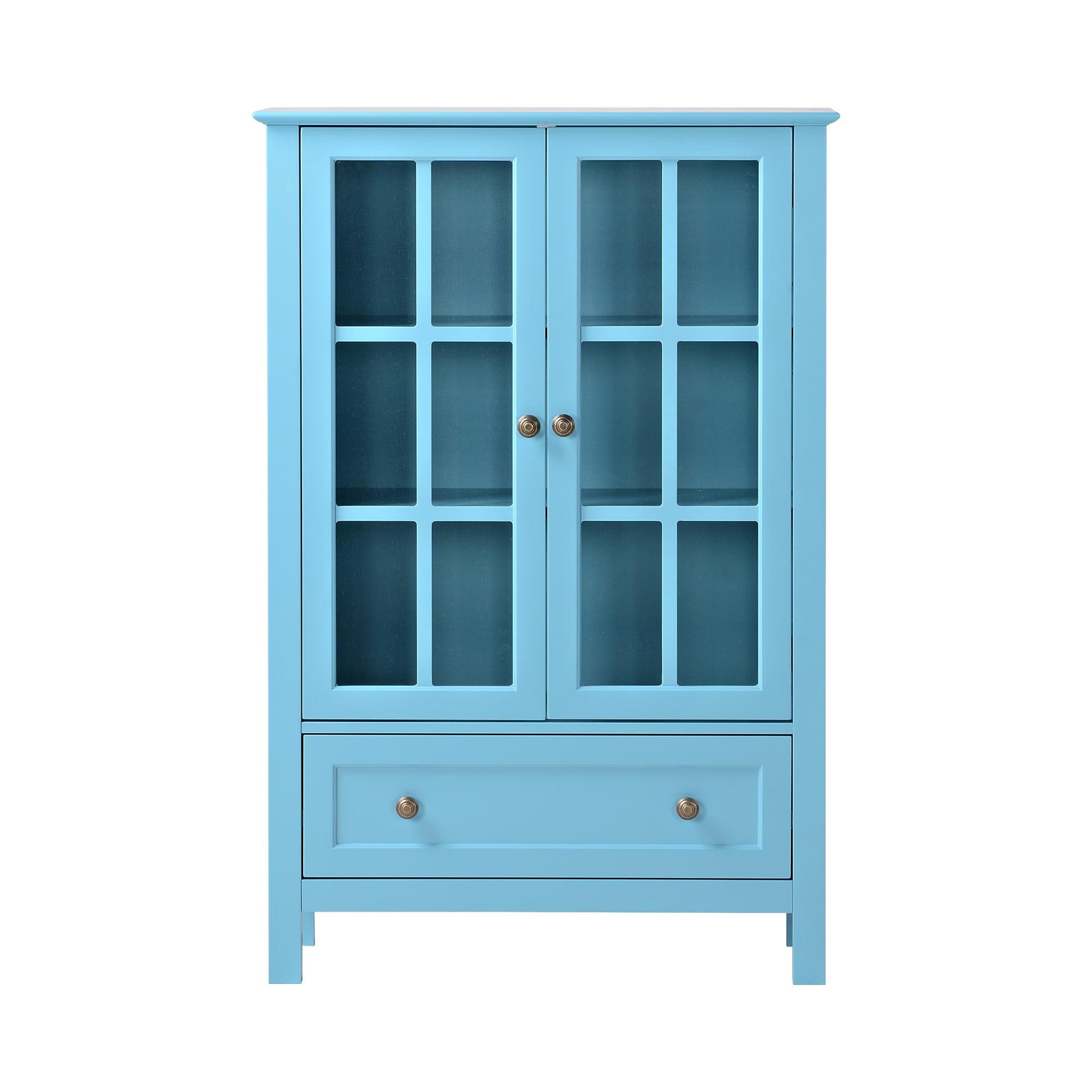 Homestar 2-Door/1-Drawer Glass Cabinet - Walmart.com