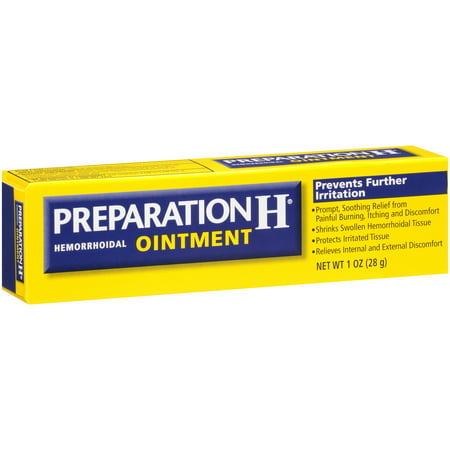 Preparation H Hemorrhoid Symptom Treatment Ointment (1.0 Ounce), Itching, Burning & Discomfort Relief,