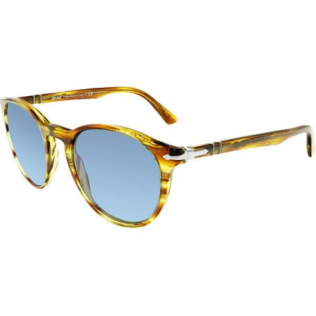 Persol Men's Mirrored PO3152S-904356-52 Brown Round (Persol Glasses Sale)