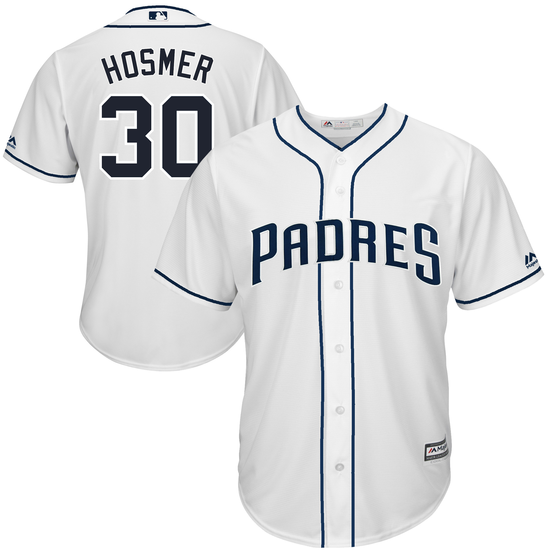 Eric Hosmer San Diego Padres Majestic Home Cool Base Player Replica Jersey - White