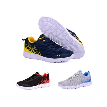 Mesh Men Sneakers - Men's Mesh Sneakers Casual Sport Athletic Running Breathable Summer Sport Shoes