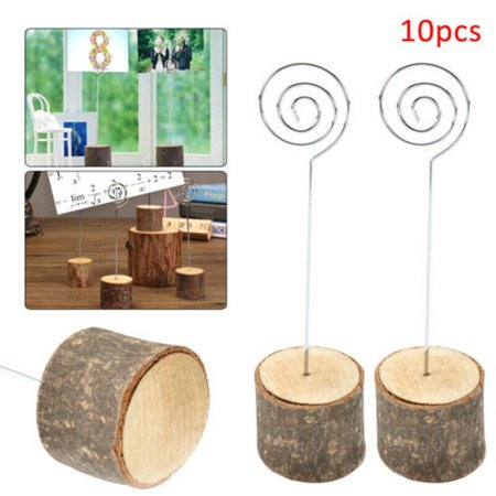10/20 Pcs Rustic Wedding Table Wood Place Number Name Card Stand Holder Circular Table Numbers Holder Stand Table Decor 10 (Best Places To Register For Wedding)