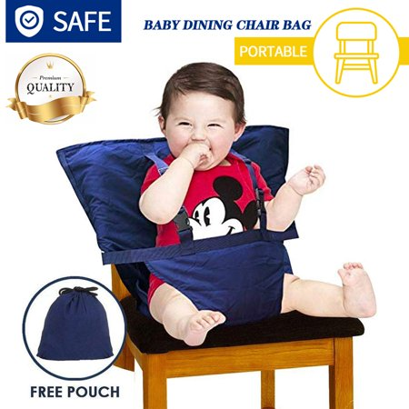 Amerteer Easy Seat Portable High Chair - Quick, Easy, Convenient Cloth Travel High Chair Fits in Your Hand Bag So That You Can Have It With You Everywhere For a Happier, Safer Infant/Toddler (Travel High Chair Cloth)