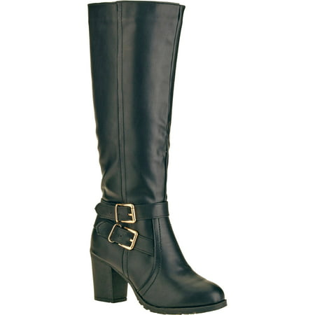 Forever Young Women's Double Buckle Tall Boot ()
