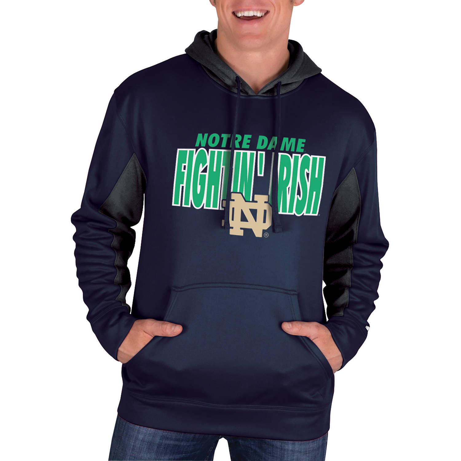 NCAA Notre Dame Fighting Irish Men's Classic-Fit Pullover Impact Hood