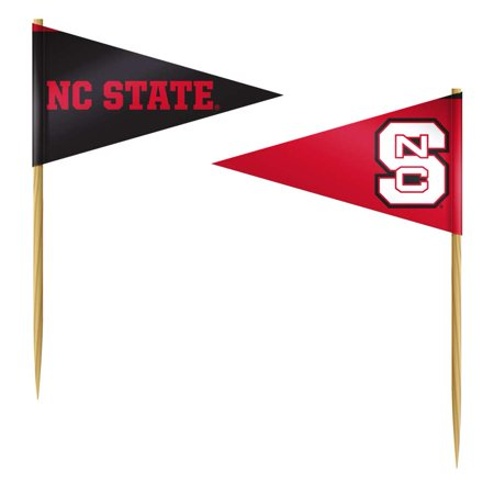 North Carolina State Wolfpack Toothpick Flag - 36 Pack