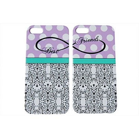 Purple Polka Dot Best Friends Phone Case for the Apple Iphone 6 by iCandy