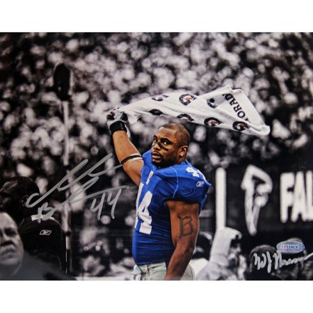 Ahmad Bradshaw Waving Towel Horizontal B&W with Color Accents 8