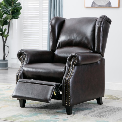 recliner chair padded seat wingback accent club chair for