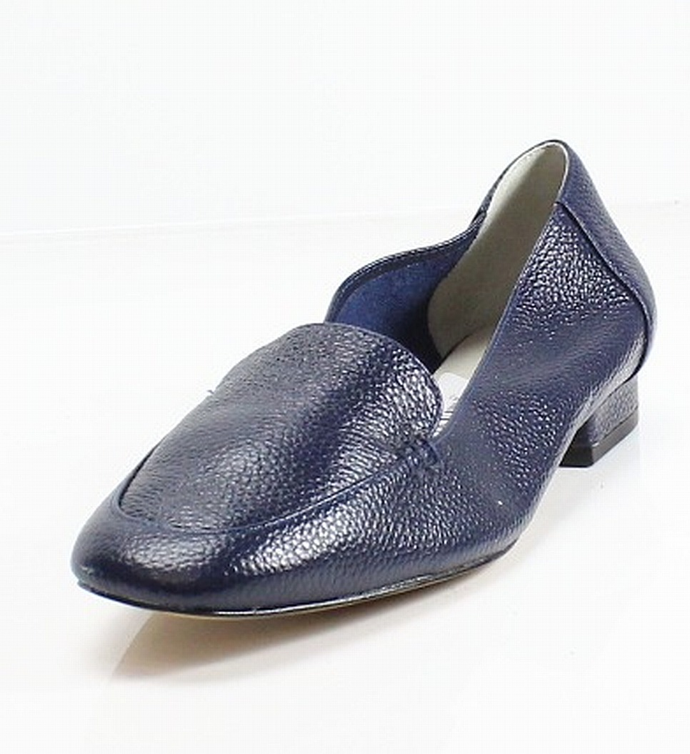 Bettye Muller NEW Blue Pebble Leather Vali Women's Size 8M Flat Loafers